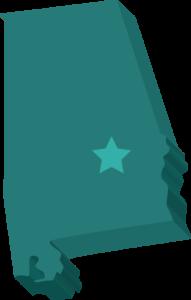 alabama-state-3d-illustration