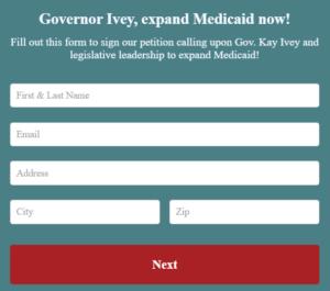 Screenshot of Cover Alabama petition